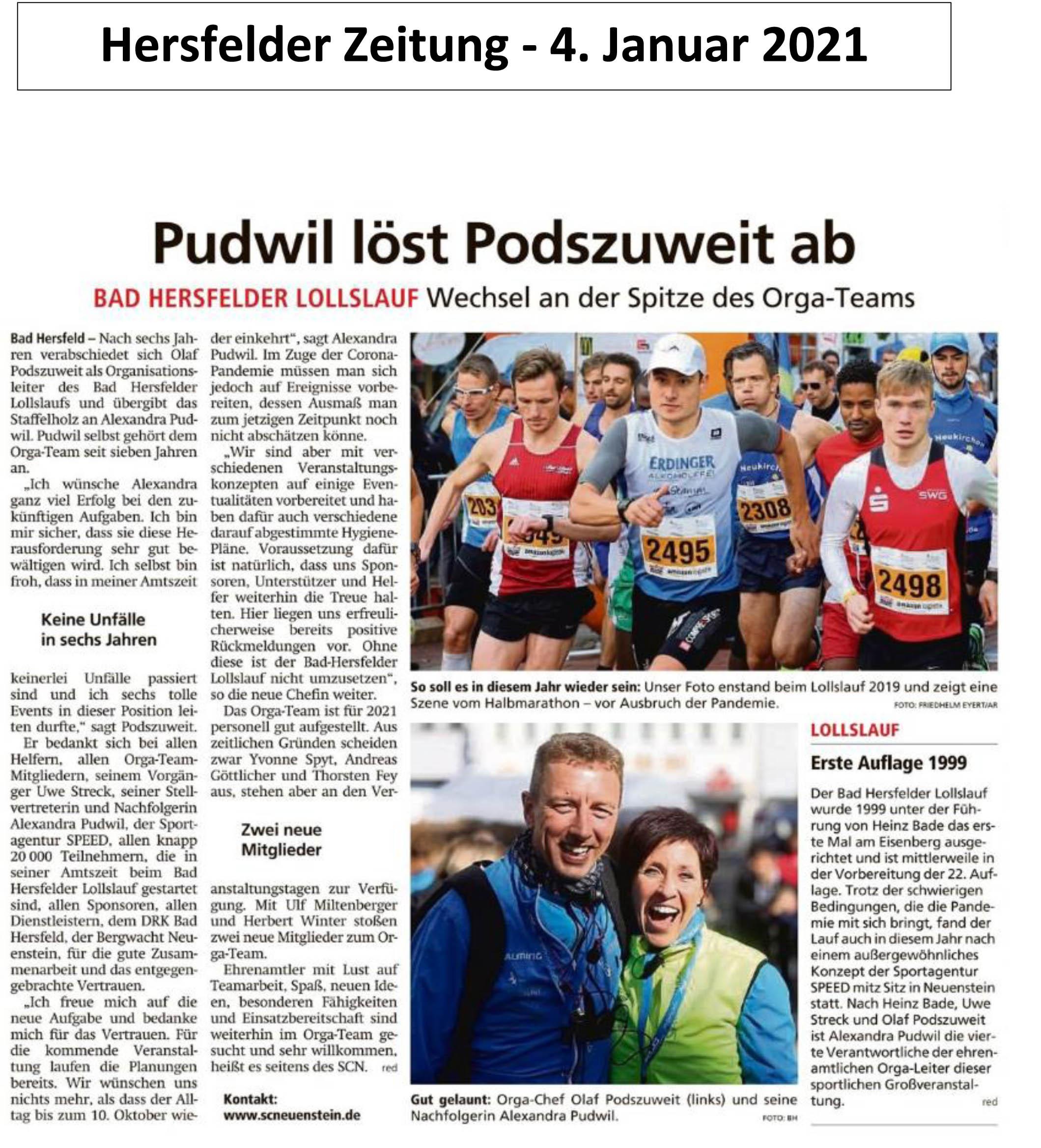 Hersfelder Zeitung - 4. Januar 2021